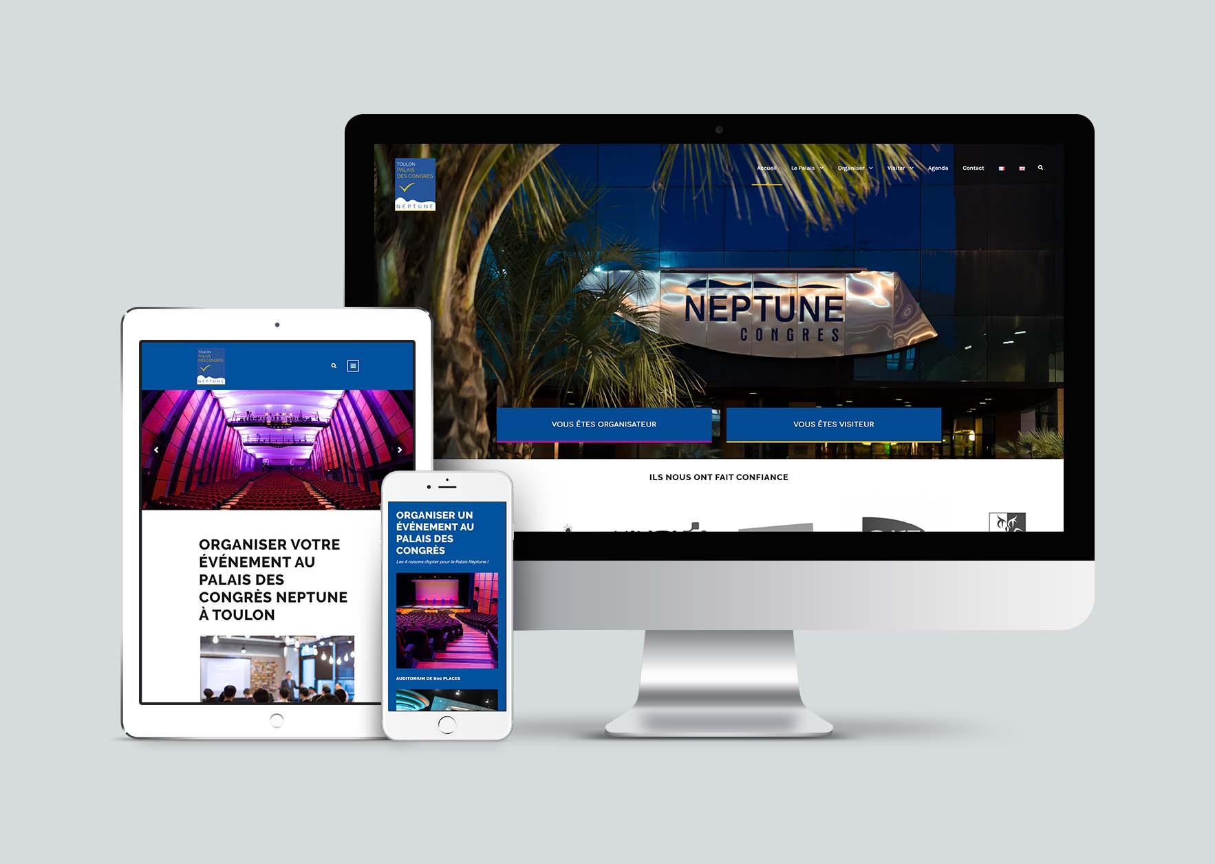 Mockup Apple devices Palais Neptune